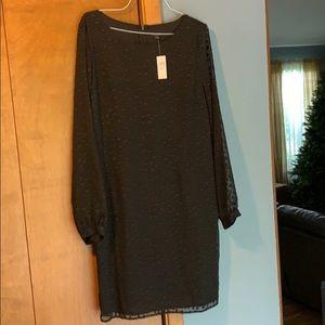 NWT Ann Taylor sheer overlay dress